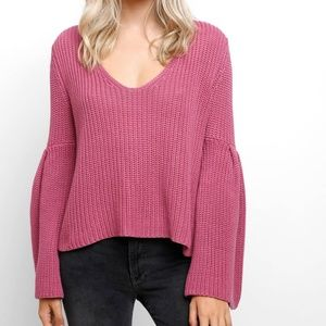 FREE PEOPLE Damsel Bell Sleeve Pullover Sweater XS